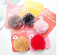 Wholesale plush phone holders for sale - Group buy 10 color hot best New mobile plush phone bracket push Phone Stand Finger Holder For iPhone x