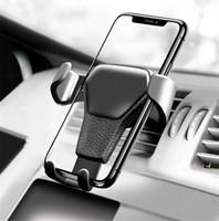 ingrosso basamenti mobili per telefoni cellulari-Supporto del telefono dell'automobile per il telefono nel supporto dello sfiato dell'aria dell'automobile Supporto del cruscotto Supporto del telefono cellulare Supporto universale delle cellule di smartphone di gravità