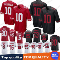 Wholesale jerseys for sale - 10 Jimmy Garoppolo San Francisco ers Jersey Mike McGlinchey Richard Sherman Reuben Foster Joe Montana Jerry Rice
