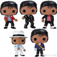 Wholesale Low price FUNKO POP MICHAEL JACKSON BEAT IT BILLIE JEAN BAD SM00TH CRIMINAL Figures Collection Model Toys for Children Birthday gift
