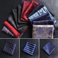 pañuelos de toalla al por mayor-Los hombres calientes de la vendimia de negocios raso bordado Paisley floral pañuelo cuadrado de tórax Accesorios Pañuelos Toalla Traje