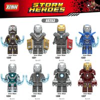 eisen mann film zahlen großhandel-Iron Man figur Heroes Infinity War Guardians of Galaxy Avengers Filme Videospiel Cartoon Blocks Spielzeug Figuren Blöcke X1220