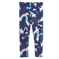 çocuklar bahar moda toptan satış-Kız Bahar Moda Tayt 100% Pamuk Çocuklar Pantolon 2019 Marka Çocuk Giyim Hayvan Çiçekler Baskılı Bebek Giyim