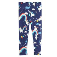 roupas de estilo boêmio para crianças venda por atacado-Menina moda primavera Leggings 100% algodão Crianças Pants 2019 Marca Crianças Roupa Animal Flores Impresso Roupas de bebê