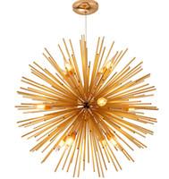 goldkugel deckenleuchte großhandel-Moderne led deckenleuchte kristall kronleuchter beleuchtung e14 gold globe ball pendelleuchte für esszimmer schlafzimmer wohnzimmer leuchte