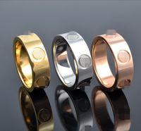 edelstahl-ring großhandel-Klassische Edelstahl Schraube Ringe 6mm Gold Rose Gold Silber gefüllt Hochzeit Liebe Ring für Männer Frauen Engagement männlich weiblich Allianz