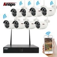 netzwerk nvr für ip-kameras großhandel-Anspo 8CH 1080P drahtloses NVR-Wifi-Netzwerk-IP-Kamera-Heimsicherheitssystem in Full HD