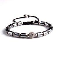 Wholesale beaded necklace bracelet resale online - Natural Stone Beaded Bracelets Men necklaces Beaded For Women Men Crown Bracelets Hematite Bracelets