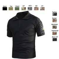 gömlekler kamuflaj toptan satış-Açık Woodland Avcılık Çekim ABD Savaş Elbise Üniforma Taktik BDU Ordu Savaş Giyim Camo Gömlek Kamuflaj T-Shirt SO05-005