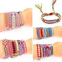 Wholesale friendship watches for sale - Group buy Nepal Nation Wind Manual Weave Bracelet Colorful Watch Chain Mix Color Rainbow Lucky Transport Friendship Hand Rope