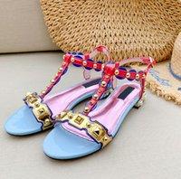 ingrosso tacchi in boemia-Sandali da spiaggia sandali aperti da donna in stile boemo estivo con cinturino alla caviglia. Rivetti di strass