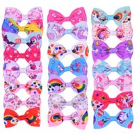 Wholesale flower pieces for hair resale online - Flower Printed Unicorn Pattern Graffiti JoJo Bows Hairpin Party Head Ornaments Hair Bows for Girls Children s Barrettes Styles Pieces