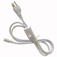 luz led apagada venda por atacado-EUA Plug 6ft T5 T8 LED Tubo do Fio Conector do interruptor Com ON OFF Interruptor de Cabo De Extensão de Alimentação Cabo de Pigtail para Lâmpada de Luz Porto