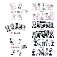 marilyn monroe arte venda por atacado-24 pcs Pop Nail Art Slider Completa Wraps Transferência de Água Nail Art Stickers DIY Marilyn Monroe W7761