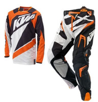 Wholesale dh gold for sale - Group buy 2019 husqvarna motocross equipment combination XC DH MTB Go Pro motorcycle racing suit pants and jersey suit TT