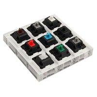 claviers en plastique achat en gros de-1 Pcs Acrylic Keyboard Tester 9 échantillonneur Keycap en plastique transparent pour commutateurs Cherry MX