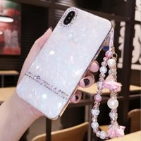 Wholesale iphone shell drill resale online - Internet celebrities fresh and suitable for iPhoneX plus mobile phone shell water drill shell pattern protective cover full package ant