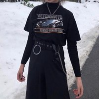 ingrosso auto hip hop-19SS VETEMENTS T-shirt sportiva da donna con stampa di auto sportive Coppia di alta qualità Confortevole Pantaloncini hip-hop allentati Manica Magliette firmate da uomo HFSSTX204