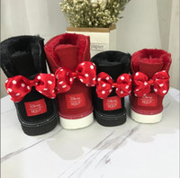 Wholesale hair children resale online - Cheap sales UGG UGGS Mickey Boots classic adults and children Short tube warm shoes luxury snow boots Winter warm boots