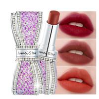 Wholesale star lip glosses for sale - Group buy Brand Lipstick Jumei Star Bow Diamond Matte Color Lasting lip gloss No Fade Waterproof Sexy color