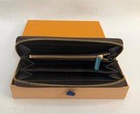 card packaging 도매-뜨거운 판매 및 도매 디자이너 지갑 카드 패키지 명품 지갑 패션 하나의 지퍼 싼 지갑 디자이너 가죽 지갑 긴 지갑