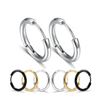 316L Stainless Steel Hypoallergenic Hoop Earrings Mens Punk Titanium steel Huggie Ear Rings For women Fashion Jewelry Gift