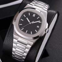 montres carrées garçons achat en gros de-19 hommes couleurs mouvement automatique de montres de luxe Glide seconde argent sooth verre saphir main et montre-bracelet en or