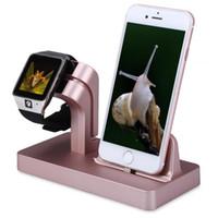apfel iphone steht großhandel-ABS-Material 2 in 1 Ladestation für Apple Watch und iPhone Ladestation für Ladestation mit Verpackung