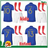 jerseys portugal al por mayor-PORTUGAL Camisetas niños fútbol 2018 Copa del Mundo ANDRE SILVA QUARESMA niños Camiseta fútbol 18/19 Portugal niños kit con calcetines