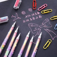 Wholesale chalk markers for sale - Group buy Highlighters writing pen Korean stationery plus a pastel pen water chalk graffiti student marker pens