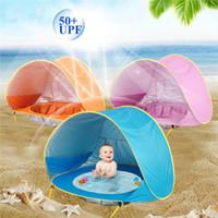 uv strandregenschirm großhandel-Mini Baby Strandzelt UV-Schutz Camping Sonnenschirm mit einem Pool wasserdicht für Kinder Markisenzelte Kind Outdoor-Regenschirm Zelt LJJZ407
