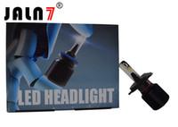 ingrosso kit di conversione fari alogeni-Kit di conversione lampadine faro LED auto J1 12V per lampadine alogene o HID 6500K Kit faro LED per auto