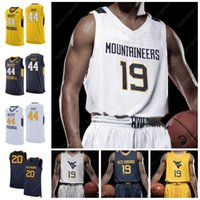 oeste camisa de basquete venda por atacado-Personalizados WVU West Virginia Mountaineers 2020 Basketball Culver 34 Oscar Tshiebwe Jevon Carter Emmitt Matthews Jr. Sagaba Konate Knapper Jersey