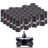 atık dağıtıcı toptan satış-Köpek Poop Çanta Clean up Dolum Rulo Pet Dağıtıcı Çantası Atık Çöp Torbaları Taşıyıcı Tutucu Dağıtıcı Pet Aksesuarları 50 Rolls = 750 adet