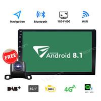 estéreo del coche android dash al por mayor-Doble 2Din 10.1 pulgadas Android 8.1 Radio de coche quad-core en el tablero estéreo GPS 4G OBDII