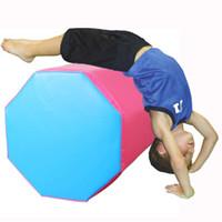 yoga denge egzersizleri toptan satış-38x38x50 cm Denge Spor Jimnastik Köpük Ruloları Yoga Eğitmeni Sekizgen Bardak Mat Beceri Şekli Eğitmenler Egzersiz Taşınabilir Rolls