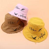 chinês chapéu venda por atacado-Algodão Chinês Bucket Hat Pescador Chapéu ao ar livre de viagem Chapéus de Sol Cap para Homens e Mulheres 60