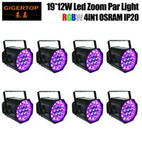 Wholesale electronics film for sale - Group buy TIPTOP Pack x12W RGBW DMX Zoom Stage Par Light Electronic Dimming Flicker Free Operation for TV FILM Pin XLR DMX Optional TP P84