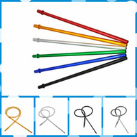 Wholesale shisha mouthpiece for sale - Group buy High Quality Colorful Long Aluminum Handle Mouthpiece Holder Stem Tip With M Silicone Hose Tube For Hookah Shisha Smoking Pipe Hot Cake