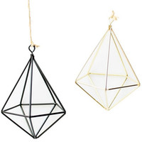 Wholesale coating siding for sale - Group buy hanging Air Plant Holder Modern Geometric Planter Container Air Plant Rack Planters Pots Wall Decor five sided