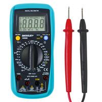 Wholesale voltage multimeter resale online - all sun Digital Multimeter Auto Range counts AC DC Ammeter Voltage ohm Tester Current Ohm NCV REL With Backlight