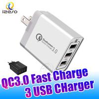 ingrosso spine multi-caricabatterie-QC3.0 ad alta velocità del caricatore Multi Port Plug Adapter Adaptive ricarica veloce 3 USB per Samsung Nota 10 S10 Inoltre S10E A70 izeso
