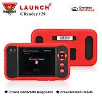 escáner de código srs al por mayor-Lance la herramienta de diagnóstico OBD auto del escáner para coche X431 Creader CRP129 OBD2 para ENG / AT / ABS / SRS + Lector de códigos de restablecimiento de freno / aceite / SAS pk VIII