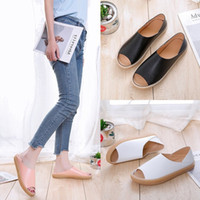 Lucky2019 Sandals Mouth Fish Slipper Two Clothes Summer Comfortable Soft Pregnant Woman Sandals Joker Flat Bottom Women s Shoes