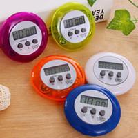 neuheit digitale küche timer großhandel-Neuheit Digital Kitchen Timer Kochhilfe Mini Digital LCD Runde Form Elektronischer Countdown-Clip Timer Alarm