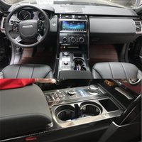 Wholesale land rover resale online - For Land Rover Discovery Interior Central Control Panel Door Handle D Carbon Fiber Stickers Decals Car styling Cutted Vinyl