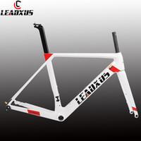 Wholesale carbon frame s online - LEADXUS Newest Disc Brakes Carbon Road Bike Frame T800 Thru Axle Disc Brake Carbon Fiber Bicycle Frame XS S M L XL