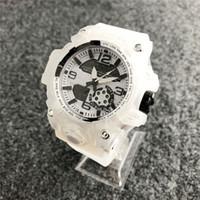 erkek yüzme saatleri toptan satış-Yeni Marka erkek Spor İzle Çift Ekran Analog Dijital LED Elektronik Kuvars İzle Su Geçirmez Yüzme Askeri İzle