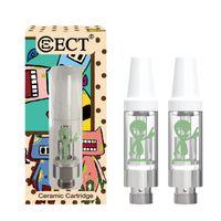 cartridges achat en gros de-Cartouche d'origine étrangère ECT 0,5 ml / 1,0 ml bobine en céramique 510 cartouches de Vape de la batterie de fil pour huile épaisse avec un nouvel emballage de la cartouche de vape