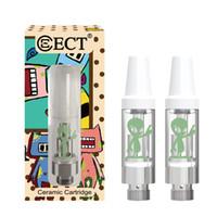 elektronisches zigaretten-ego ce7 großhandel-Original ECT Alien Kartusche 0,5 ml / 1,0 ml Keramikspule Vape-Kartuschen mit 510 Gewinden für dickes Öl mit neuer Verpackung für Vape-Kartuschen
